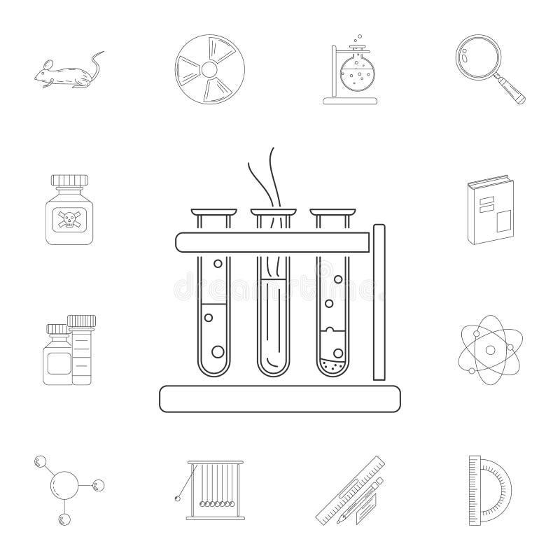 实验室试验象 详细的套科学和实验室例证 优质质量图形设计象 其中一个汇集象fo 库存例证