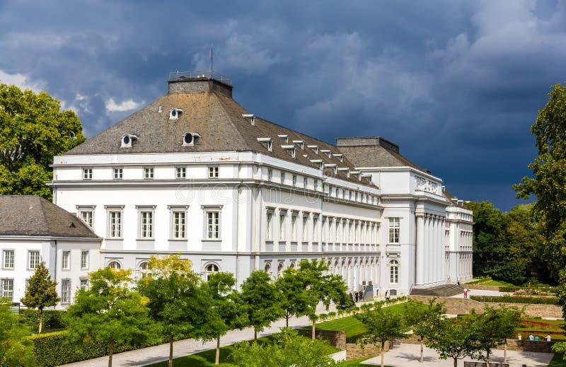 实验者的王子选举人的宫殿在科布伦茨 免版税库存照片