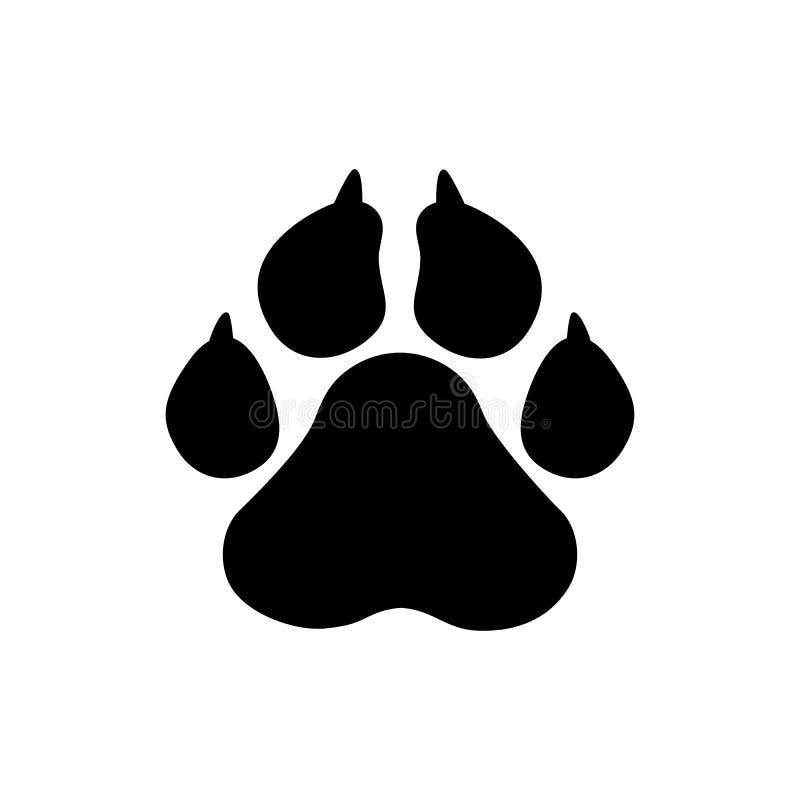 宠爱象,传染媒介爪子印刷品-动物,宠物标志 向量例证