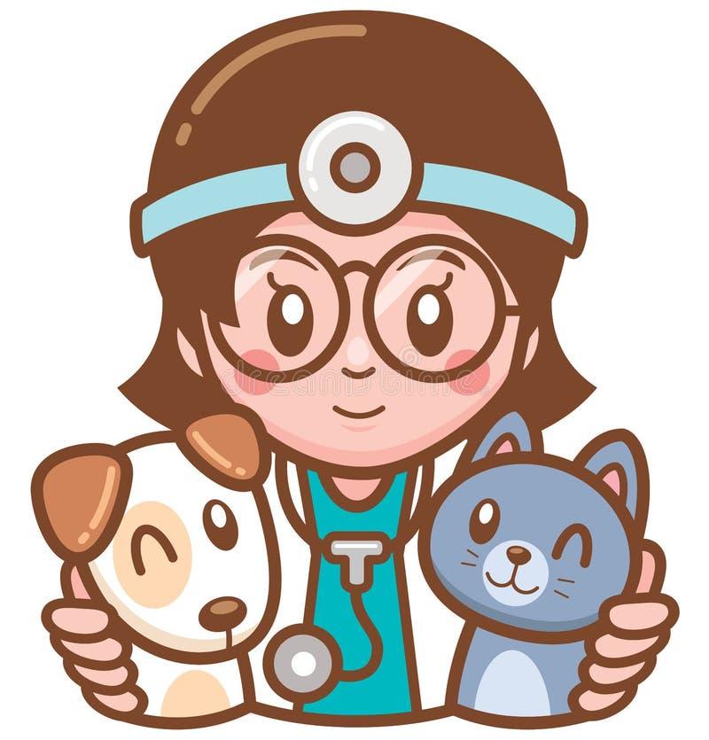 宠物医生 向量例证