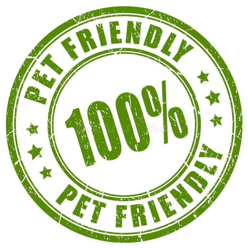 宠物友好的传染媒介邮票 向量例证
