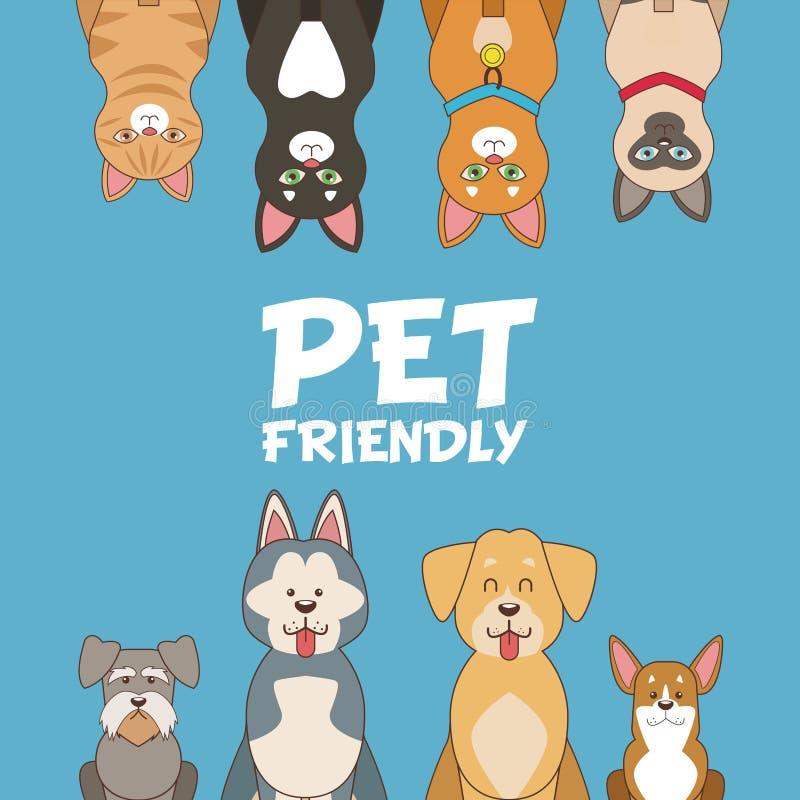 宠物友好的动画片 库存例证