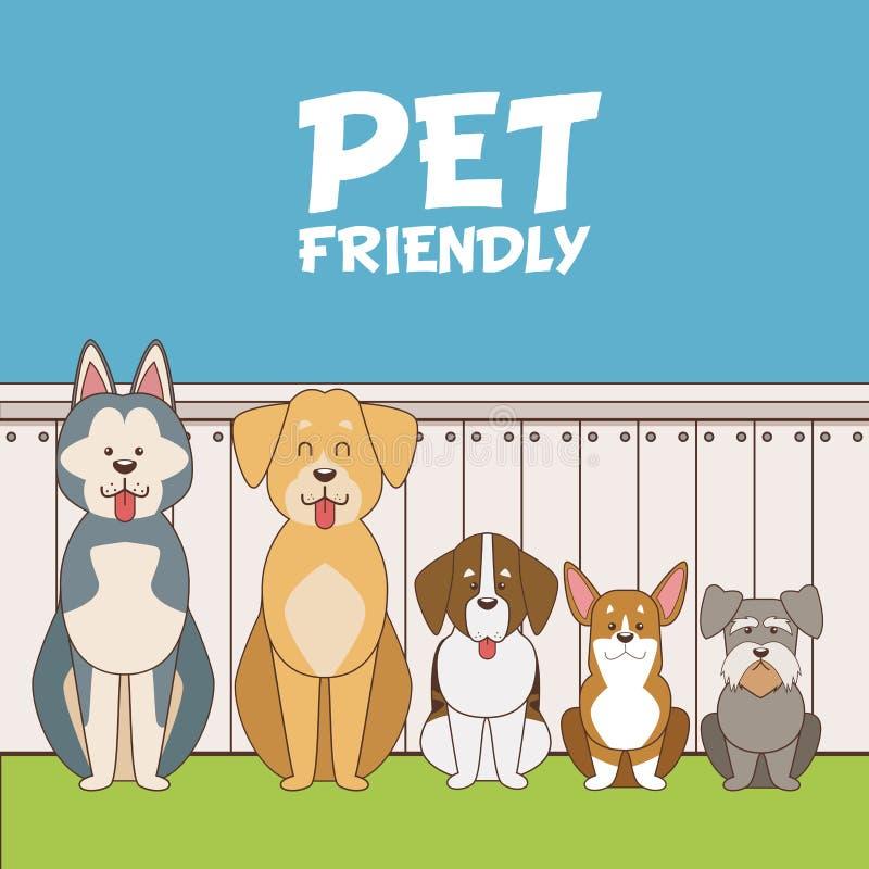 宠物友好的动画片 皇族释放例证