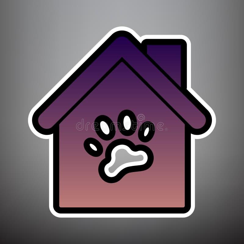 宠物店,企业创办标志例证 向量 紫罗兰色韵律 向量例证