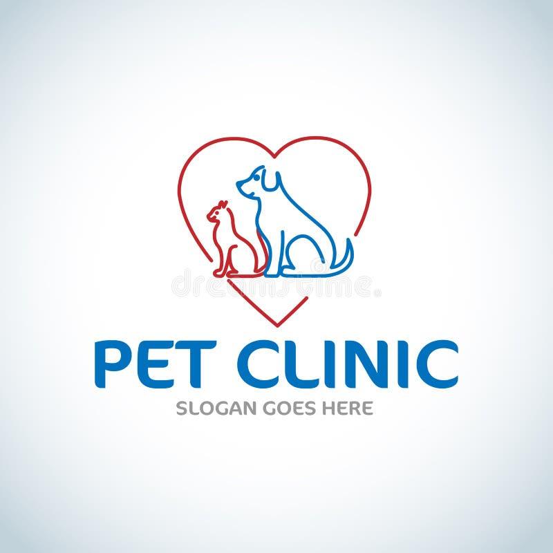宠物照管,宠物食品,宠物,诊所,兽医,狗,猫,家庭 r 向量例证