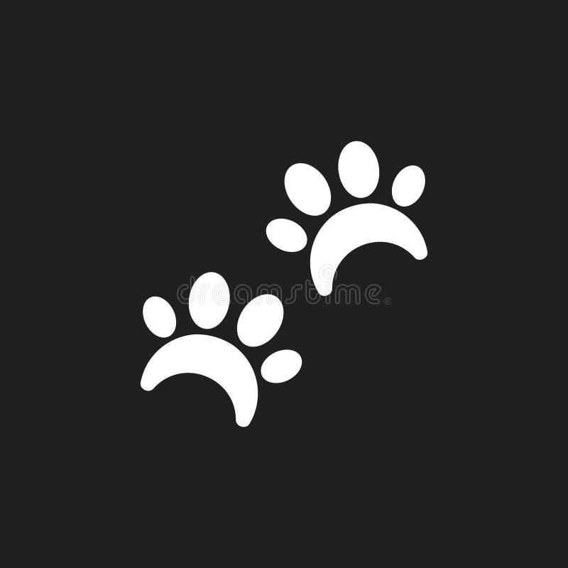 宠物爪子步行标志商标传染媒介 库存例证
