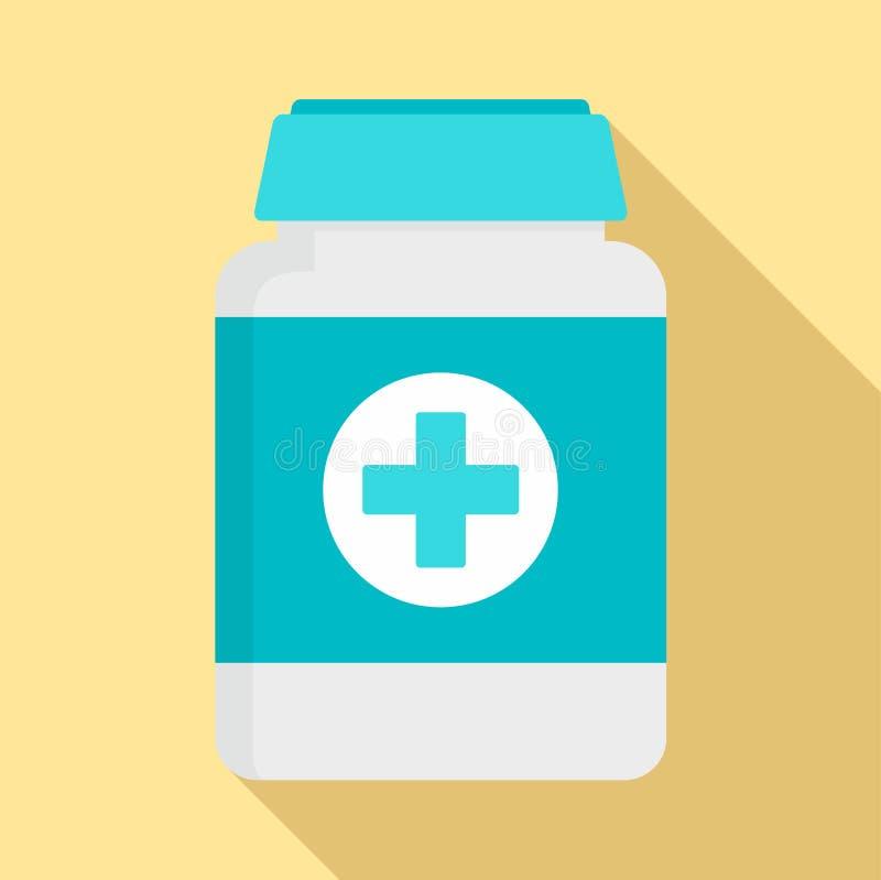 宠物象的,平的样式药片箱子 向量例证