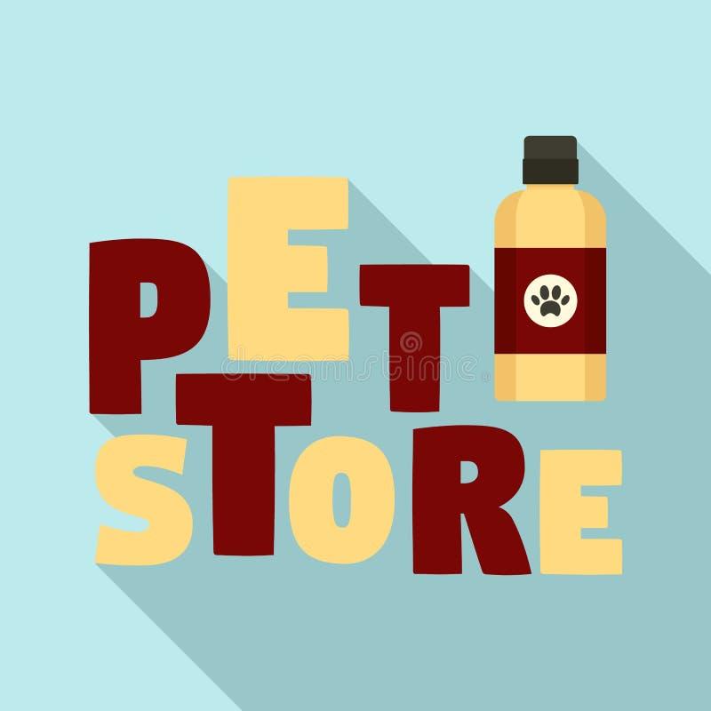 宠物香波商店商标,平的样式 皇族释放例证