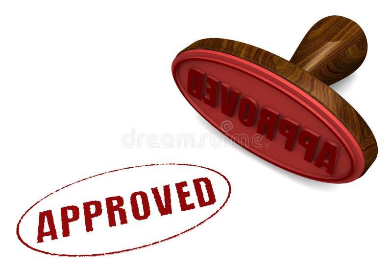 审批印花税 向量例证