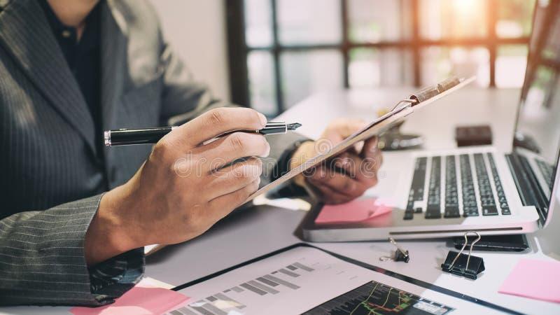 审计概念、簿记员或者财政审查员 免版税库存图片