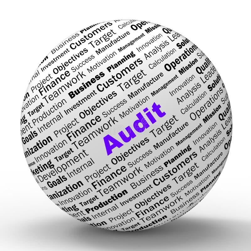 审计球形定义意味财政检查 向量例证