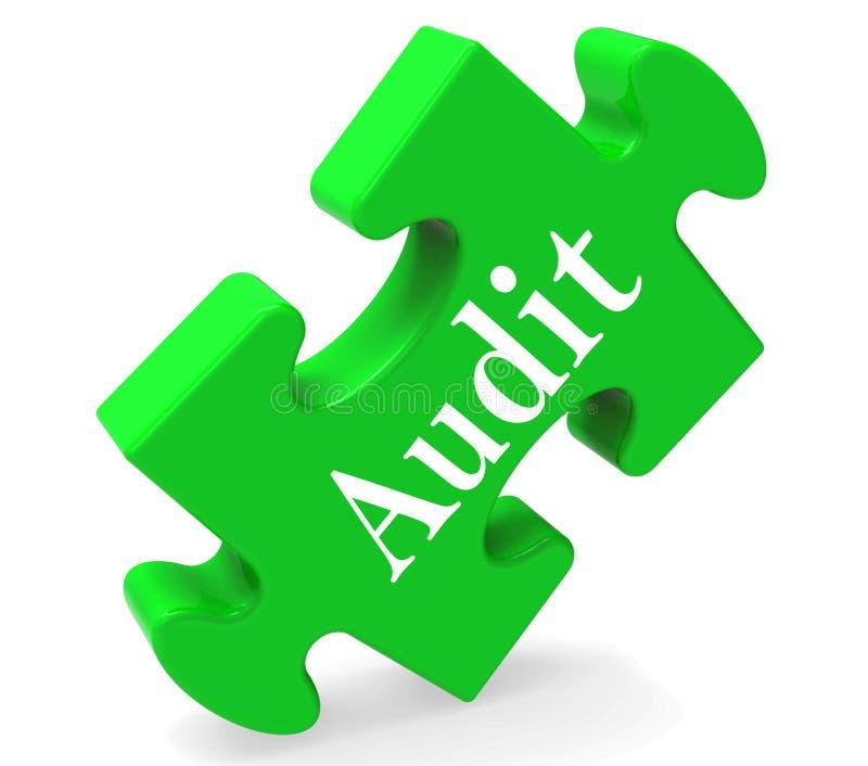 审计难题显示审计员检验察视或检查 库存例证