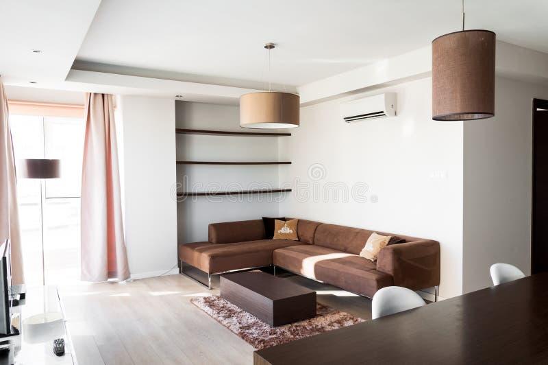 客厅公寓 免版税库存照片