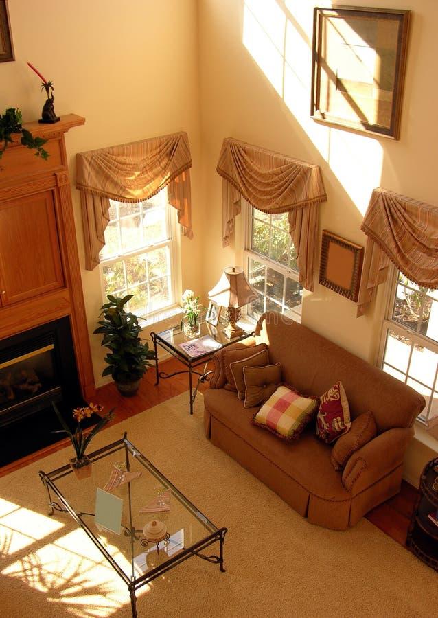 客厅垂直视图 图库摄影