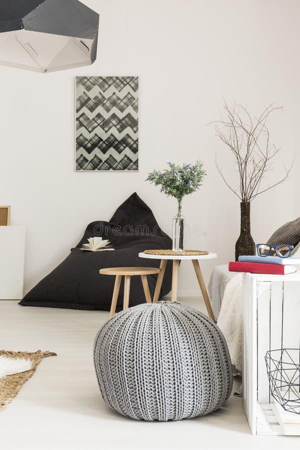 客厅有创造性的装饰想法 免版税库存照片