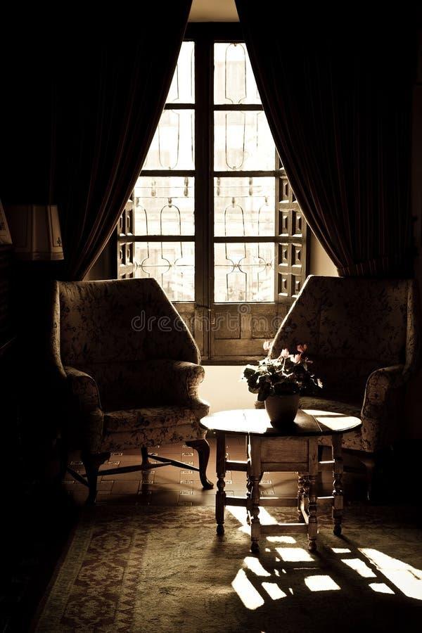 客厅葡萄酒 图库摄影
