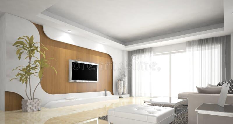 客厅设计,北欧 库存照片