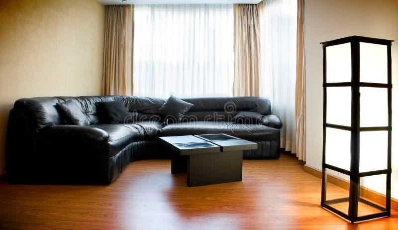 客厅-内部装饰业 免版税库存图片