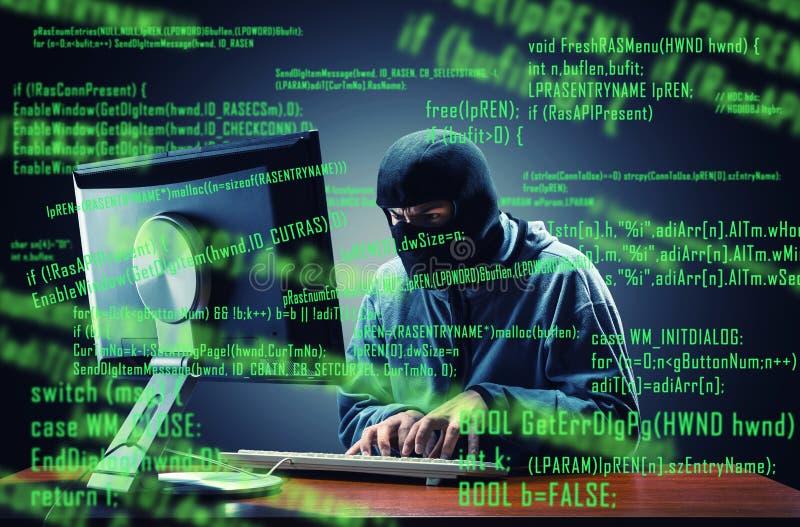黑客在办公室 图库摄影