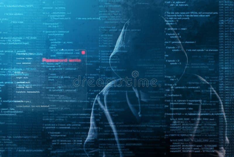 黑客在工作 库存图片