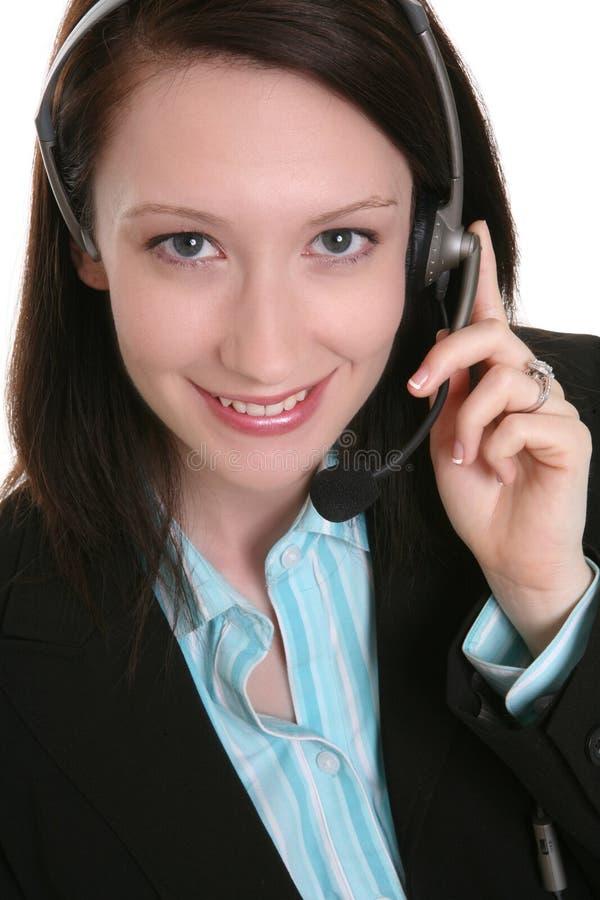 客户俏丽的服务妇女 库存图片