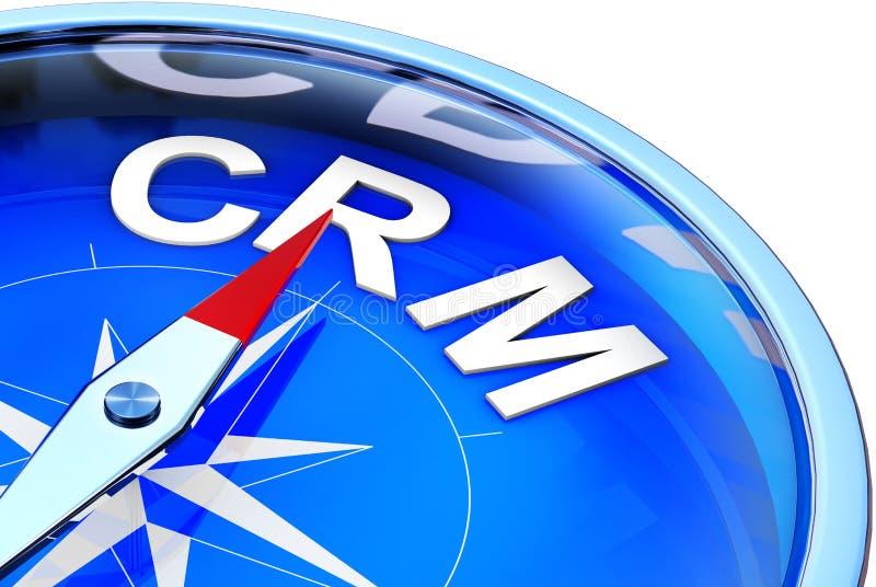 客户关系管理指南针 库存例证