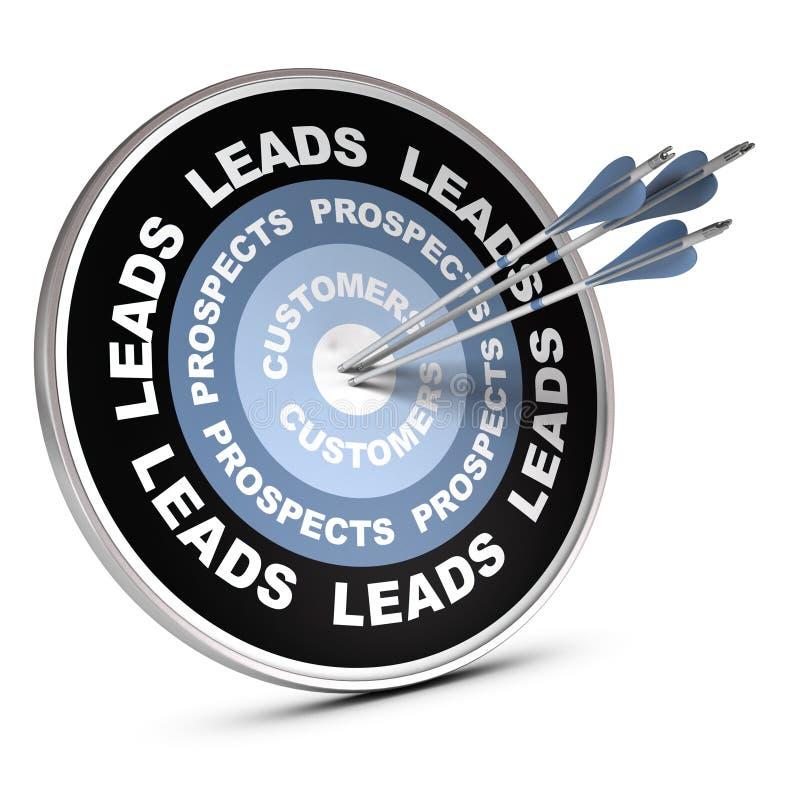 客户关系管理概念 库存例证