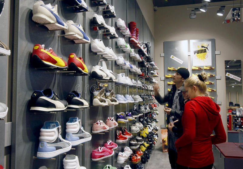 客户内部购物中心美洲狮购物存储 图库摄影