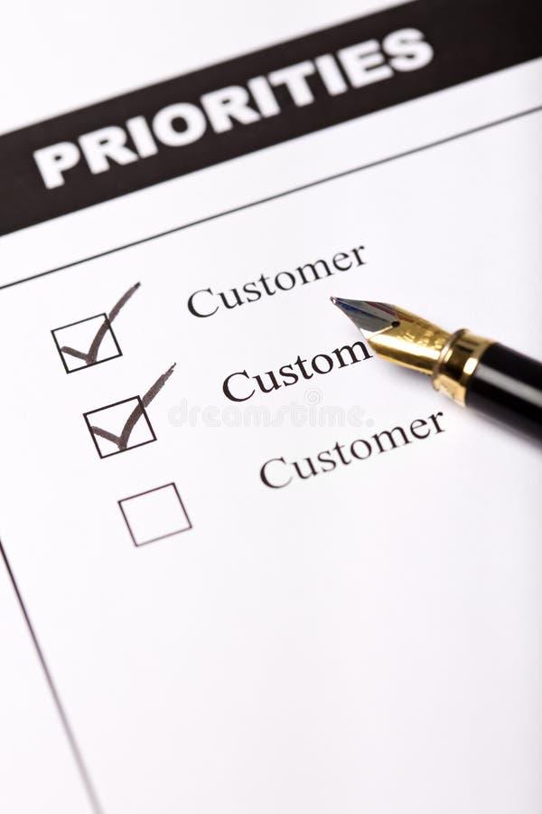 客户导向企业的概念 免版税库存照片