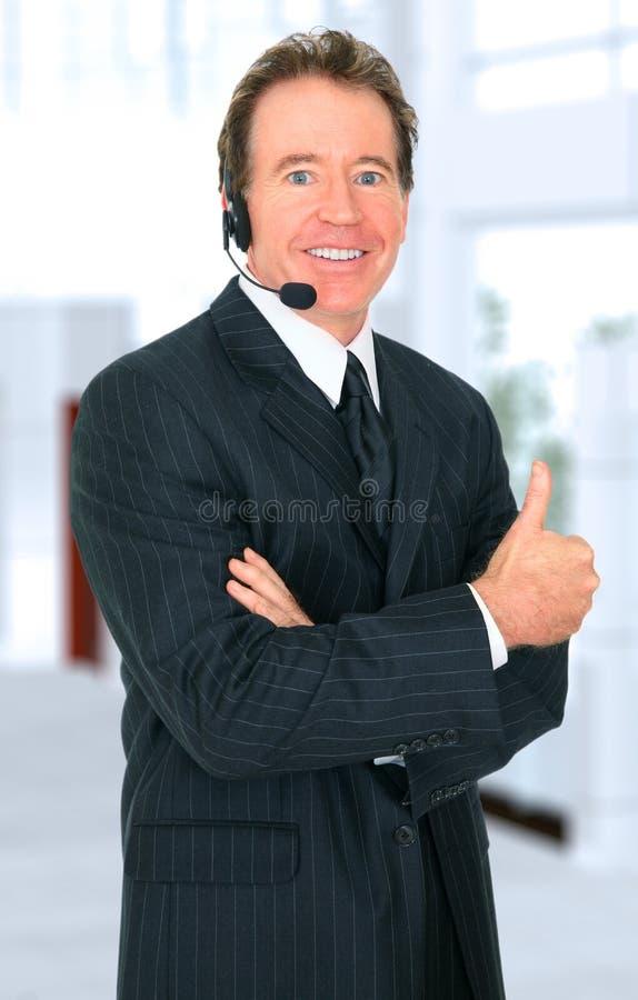 客户有代表性前辈微笑成功 库存图片