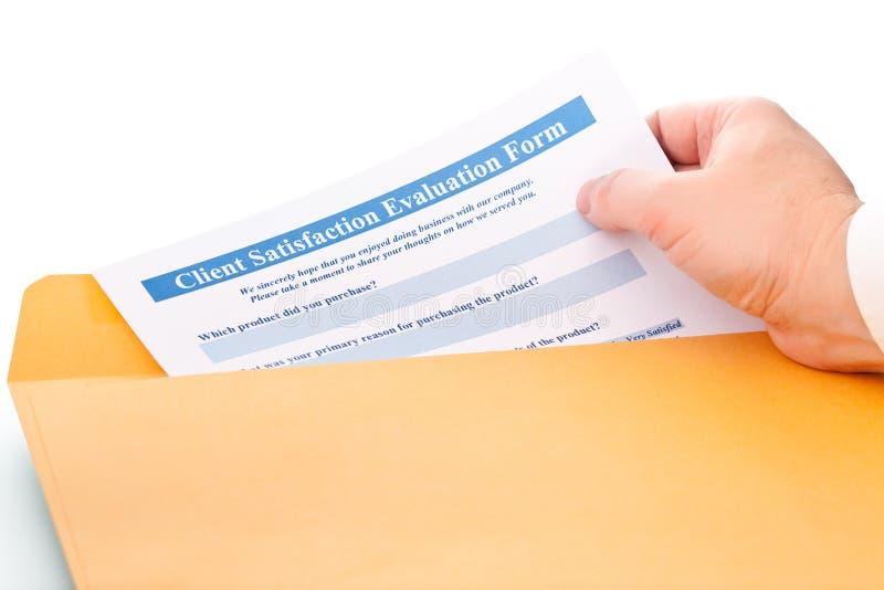 客户机评价表满意度 免版税库存照片