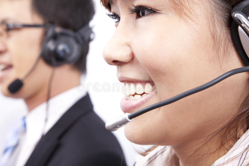 客户电话流动代课教师组 免版税库存照片