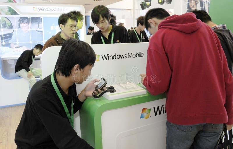 客户经验Windows Mobile新的版本 免版税库存图片