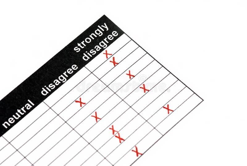 客户表单满意度 免版税库存图片