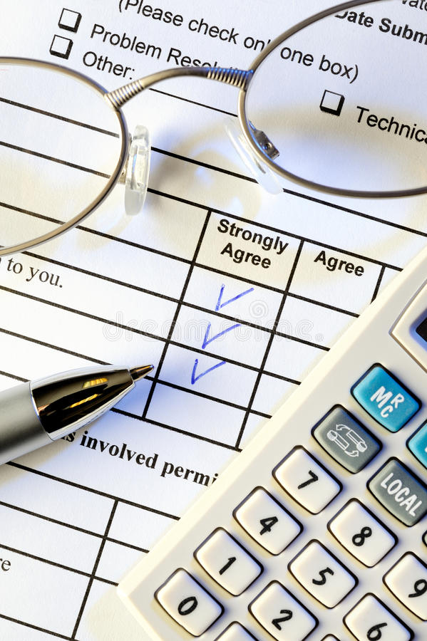 客户表单调查 免版税库存照片