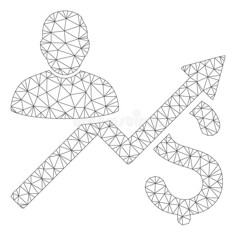 客户销售绘制多角形框架传染媒介滤网例证图表 皇族释放例证