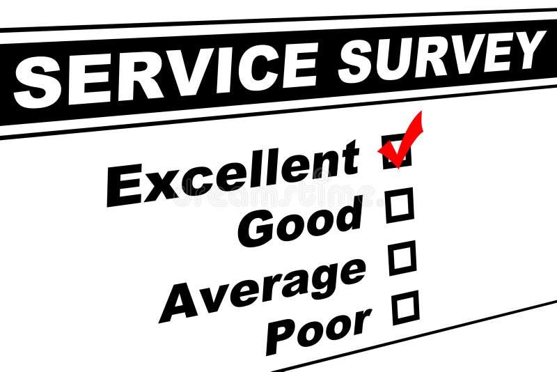 客户非常好的服务调查 免版税图库摄影