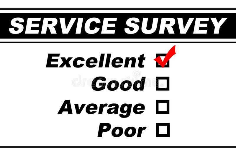 客户非常好的服务调查 库存图片