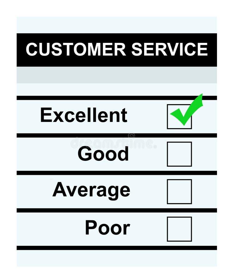客户非常好的服务 向量例证