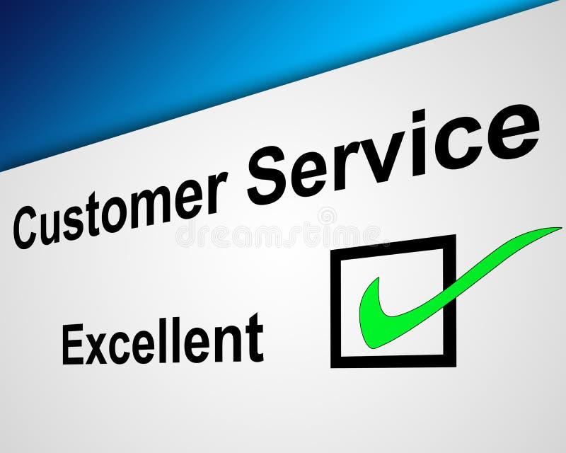 客户非常好的服务 皇族释放例证