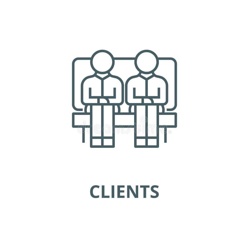 客户,沙发的两个人,伙伴排行象,传染媒介 客户,沙发的两个人,伙伴概述标志,概念标志, 皇族释放例证
