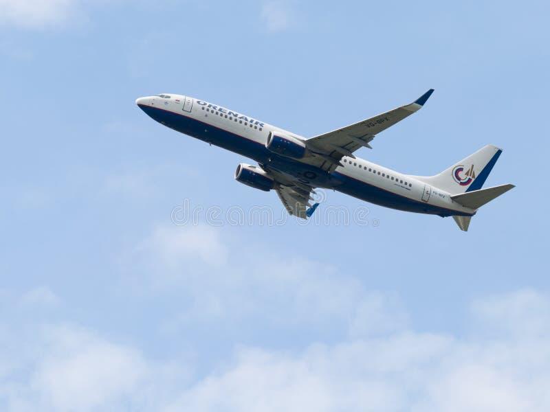 客机波音737-8Q8, Orenair 图库摄影