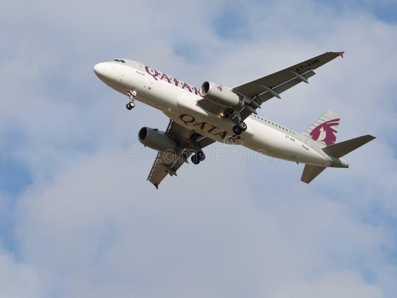 客机空中客车A320-232卡塔尔航空 库存图片