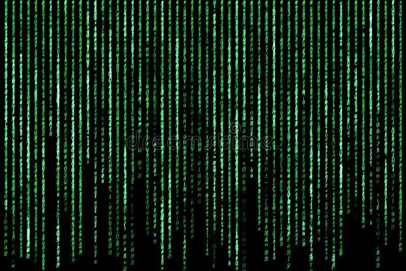 黑客概念 计算机字符码 库存图片