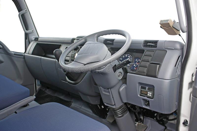 客舱内部卡车 免版税库存图片