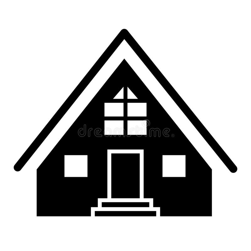 客舱坚实象 小屋在白色隔绝的传染媒介例证 三角形屋顶村庄纵的沟纹样式设计,设计为网和 皇族释放例证