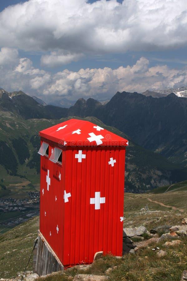 客舱山瑞士 免版税库存图片