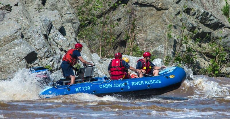 客舱约翰河在波托马克河,马里兰的抢救小队 免版税库存图片