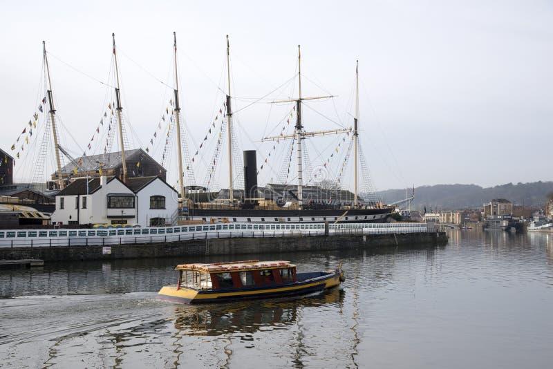 客船和SS大英国汽轮布里斯托尔英国 库存照片