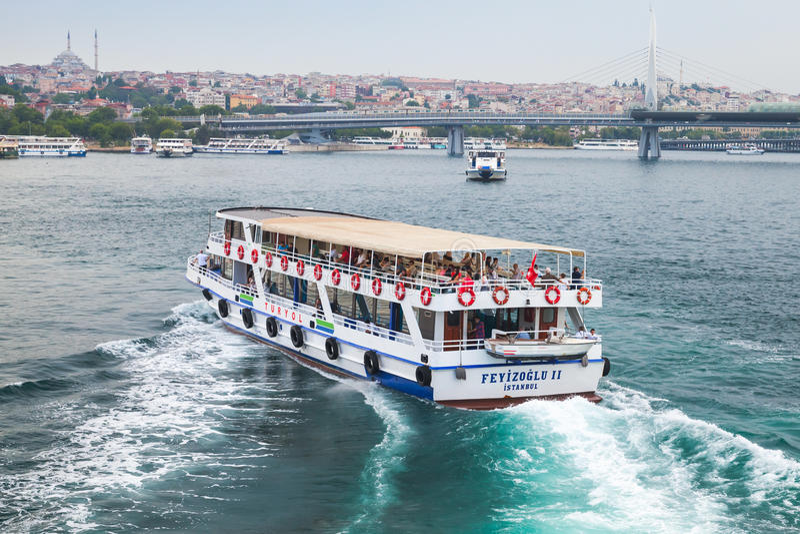 客船 伊斯坦布尔,土耳其 图库摄影
